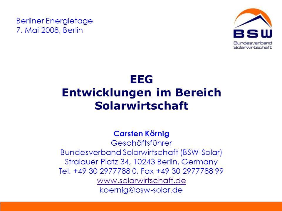 Berliner Energietage 7. Mai 2008, Berlin.