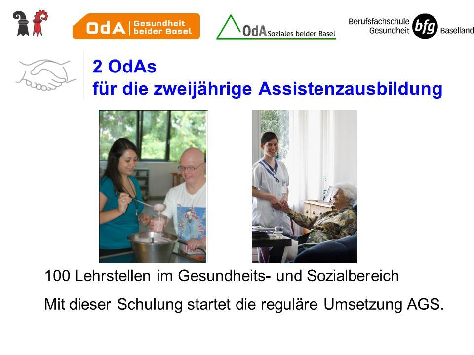 2 OdAs für die zweijährige Assistenzausbildung