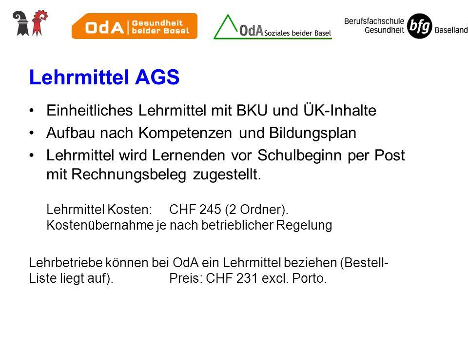 Lehrmittel AGS Einheitliches Lehrmittel mit BKU und ÜK-Inhalte