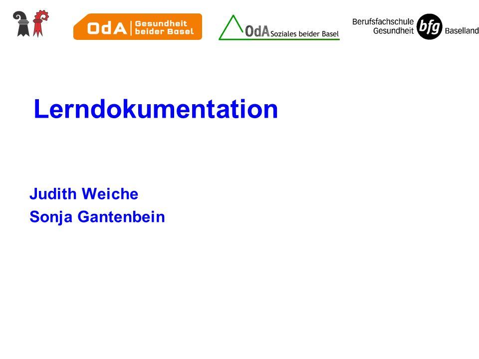 Lerndokumentation Judith Weiche Sonja Gantenbein