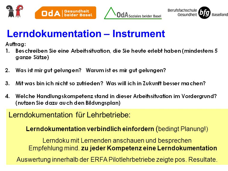Lerndokumentation – Instrument