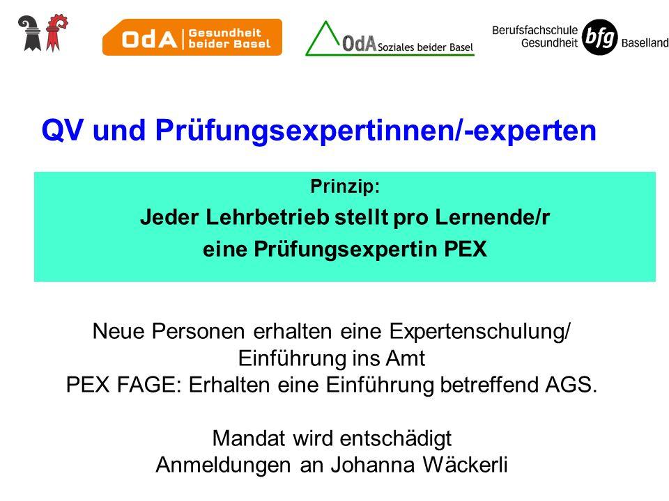 QV und Prüfungsexpertinnen/-experten