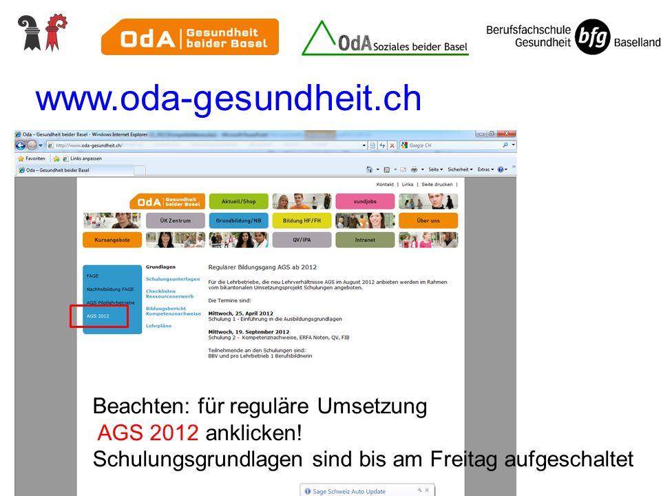 www.oda-gesundheit.ch Dokumente auf den Websites