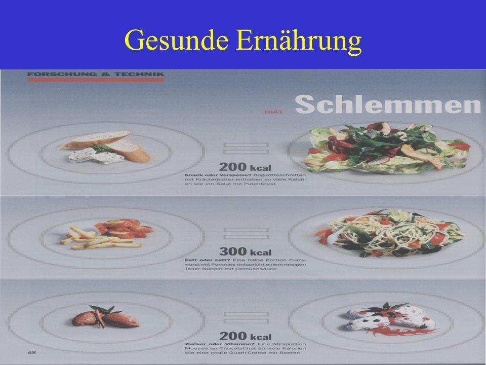 Gesunde Ernährung Bild 1) Snack o. Vorspeise mit Kräuterbutter enthalten so viele Kalorien wie ein Salat mit Putenbrust.