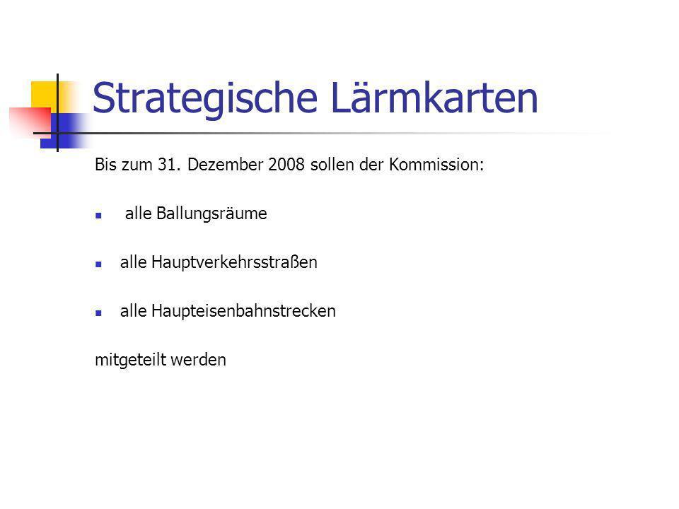 Strategische Lärmkarten