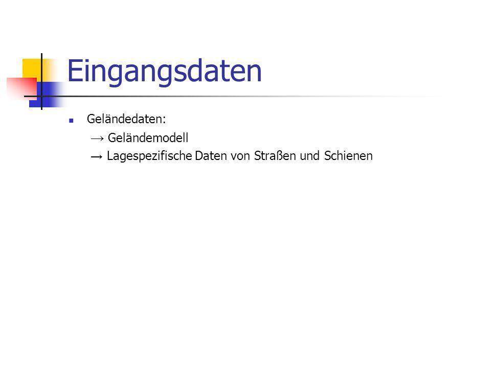 Eingangsdaten Geländedaten: → Geländemodell