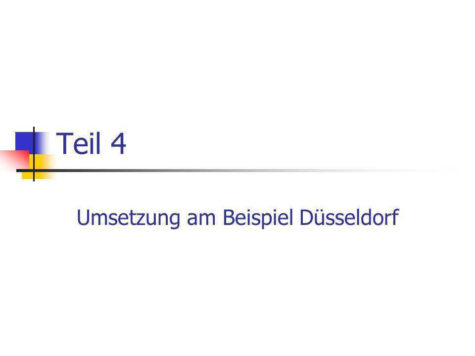 Umsetzung am Beispiel Düsseldorf