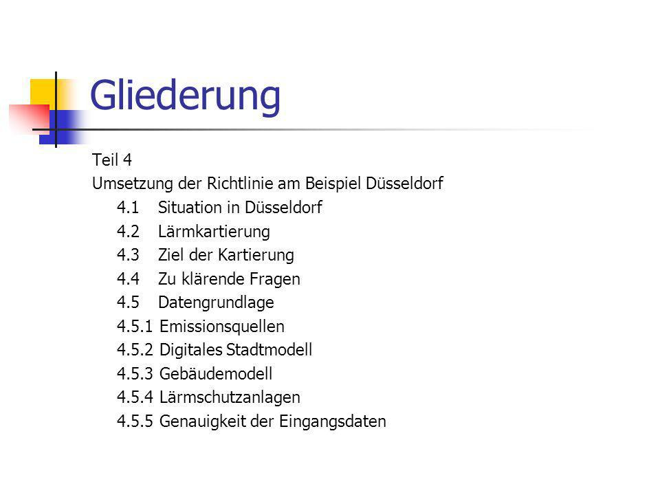 Gliederung Teil 4 Umsetzung der Richtlinie am Beispiel Düsseldorf