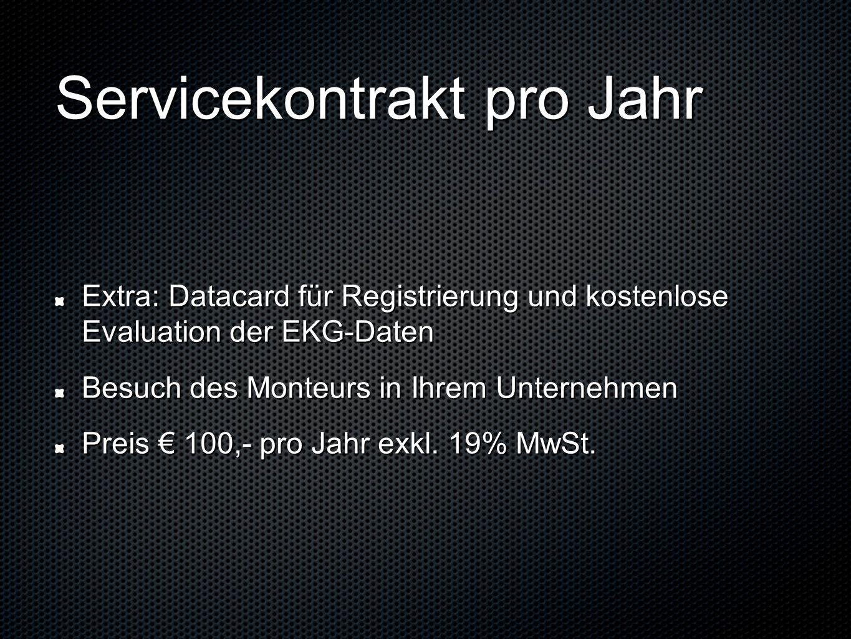 Servicekontrakt pro Jahr