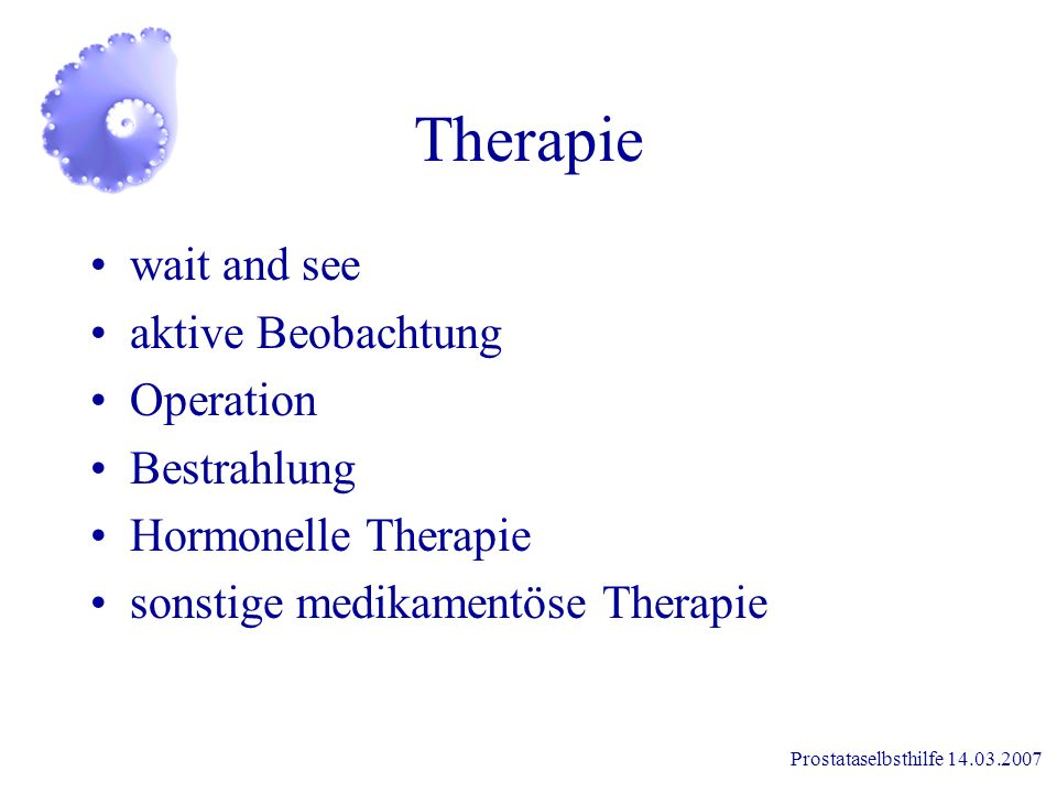 Therapie wait and see aktive Beobachtung Operation Bestrahlung