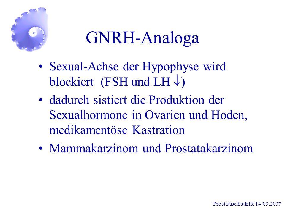GNRH-Analoga Sexual-Achse der Hypophyse wird blockiert (FSH und LH )