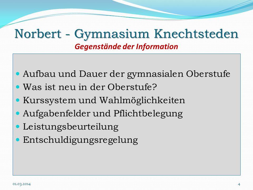 Norbert - Gymnasium Knechtsteden Gegenstände der Information