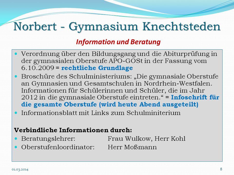 Norbert - Gymnasium Knechtsteden Information und Beratung