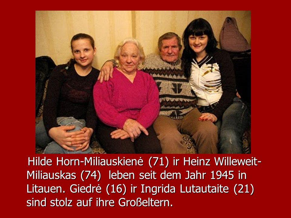 Hilde Horn-Miliauskienė (71) ir Heinz Willeweit-Miliauskas (74) leben seit dem Jahr 1945 in Litauen.
