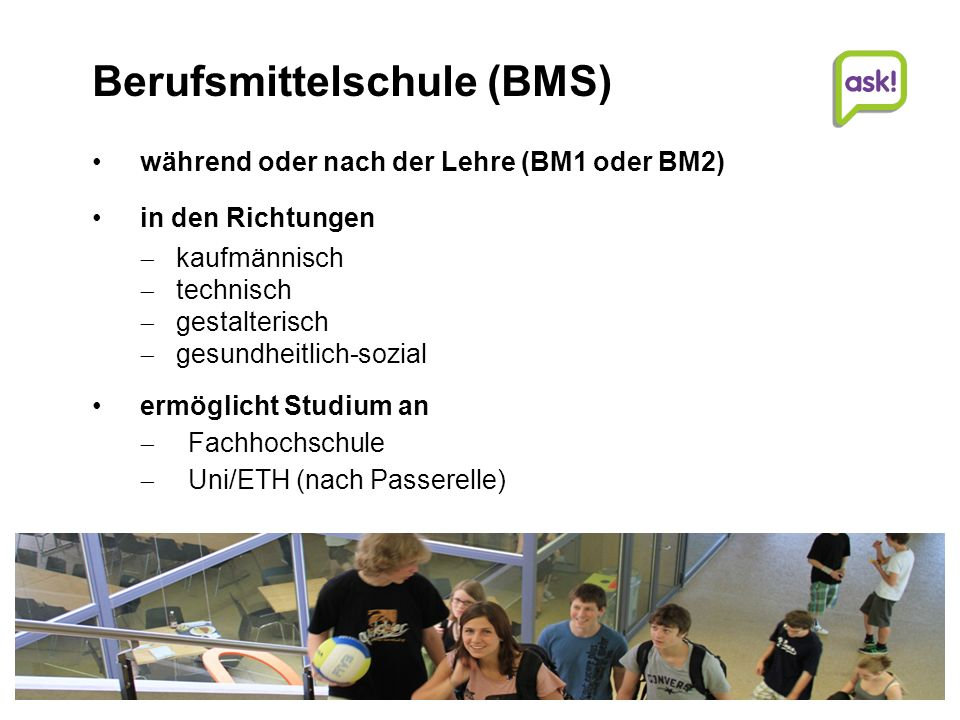 Berufsmittelschule (BMS)
