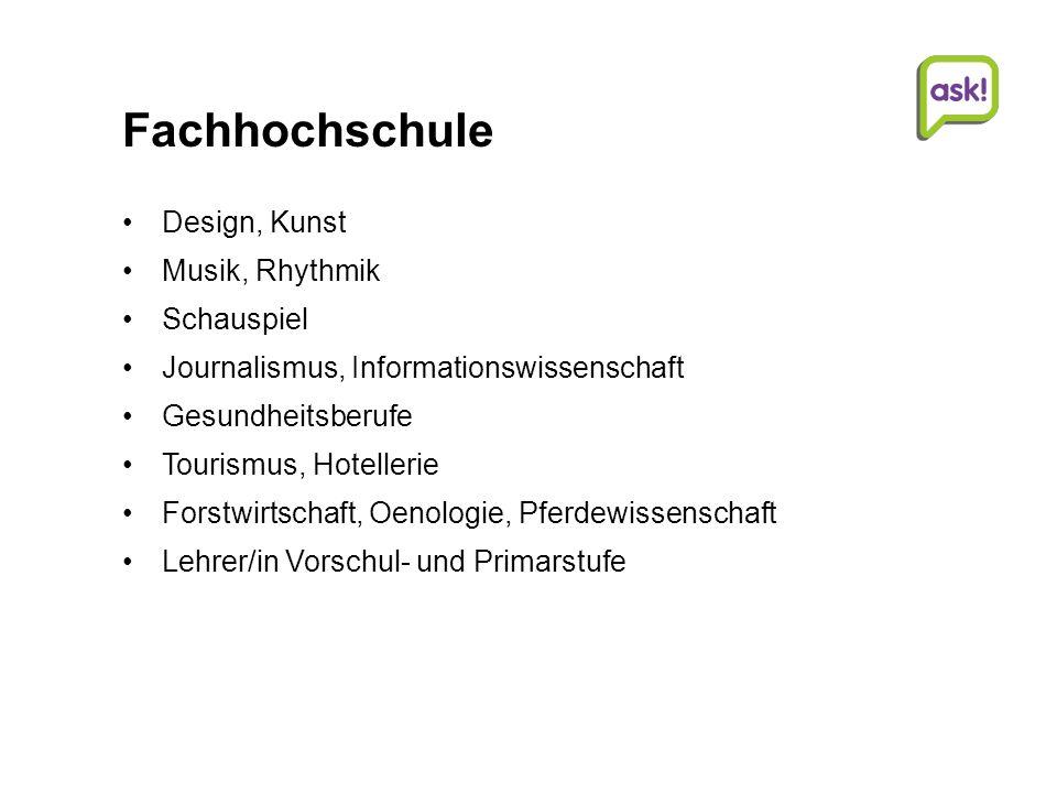 Fachhochschule Design, Kunst Musik, Rhythmik Schauspiel