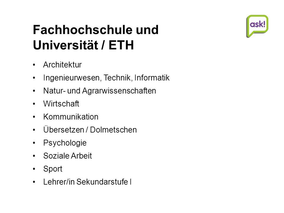 Fachhochschule und Universität / ETH