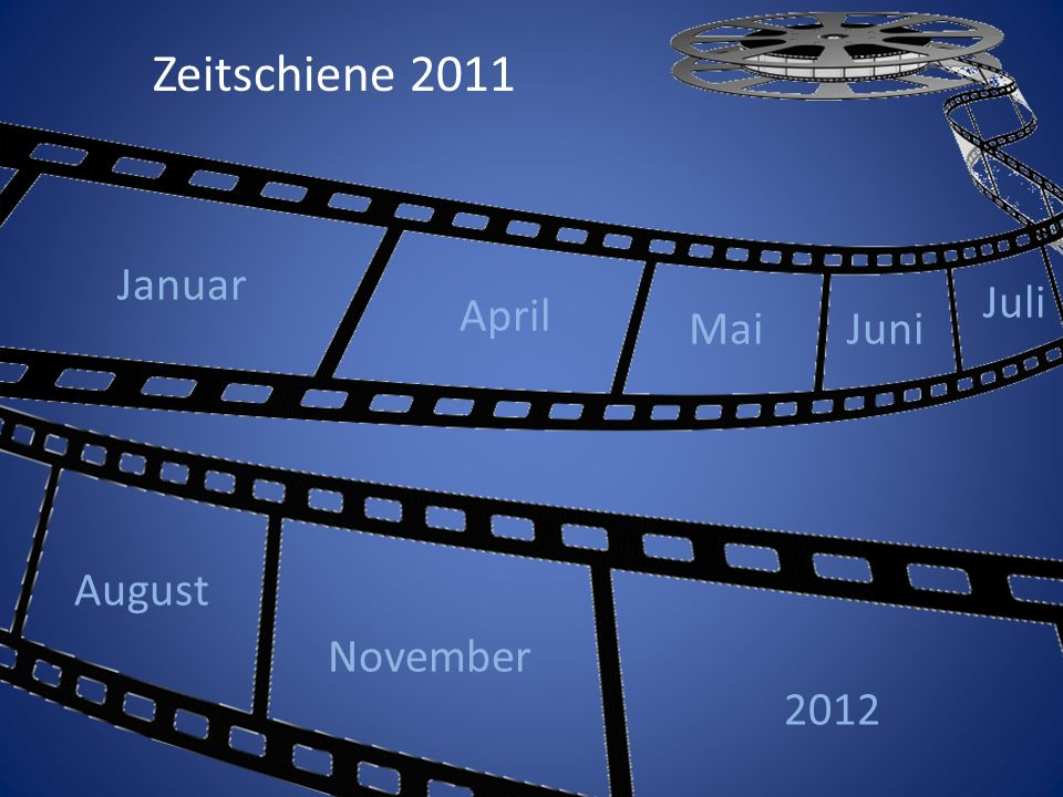 Zeitschiene 2011 Januar April Juli Mai Juni August November 2012