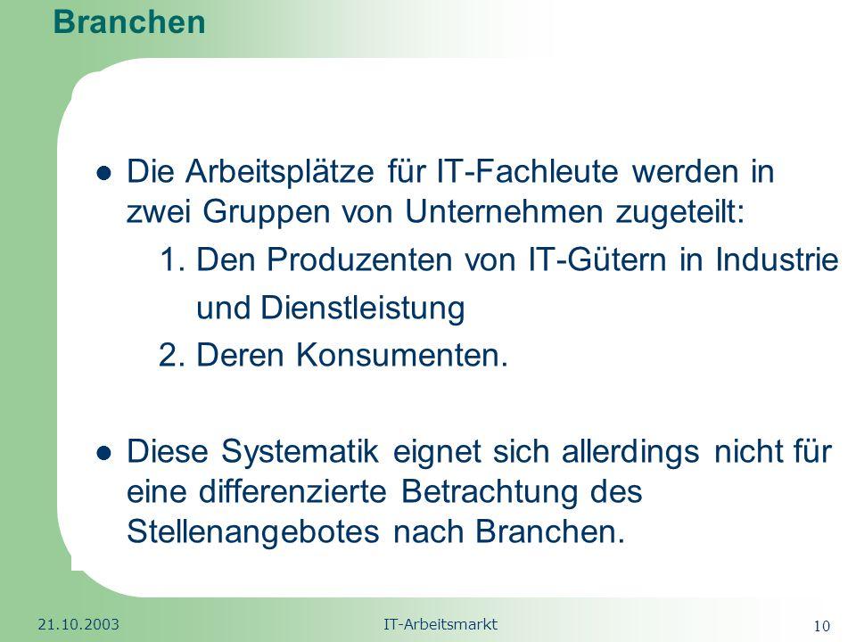 1. Den Produzenten von IT-Gütern in Industrie und Dienstleistung