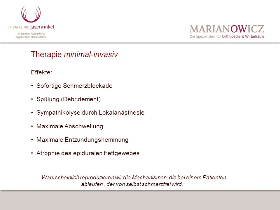 Therapie minimal-invasiv