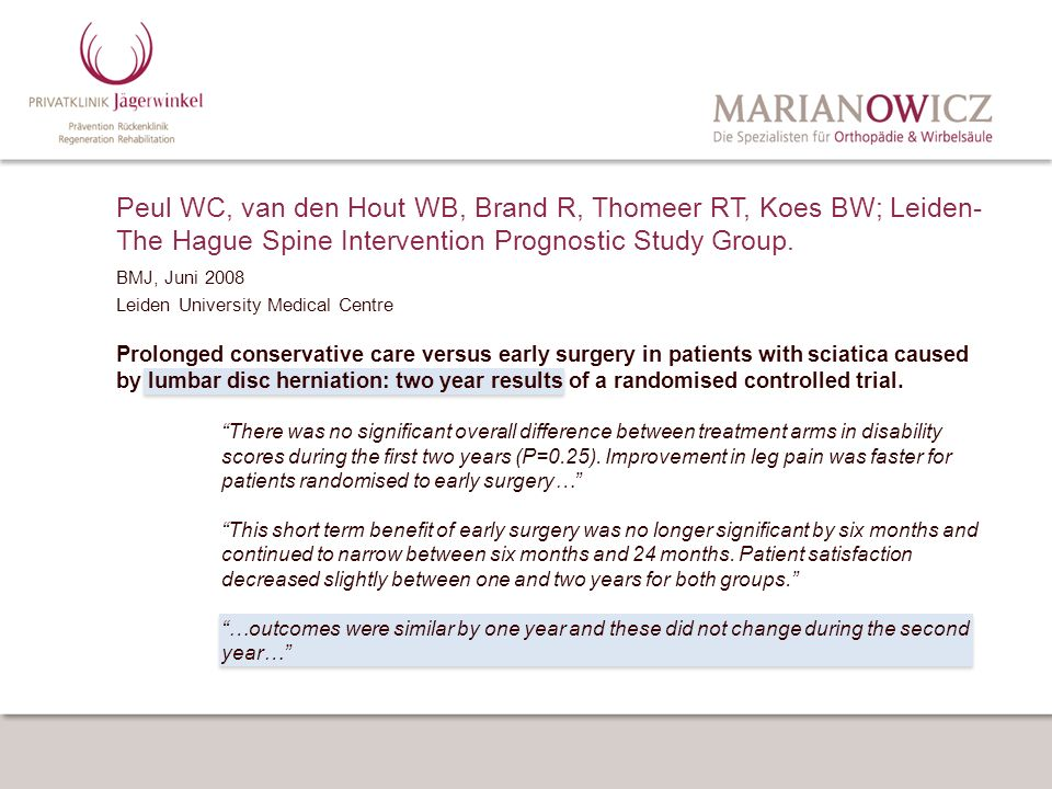 Peul WC, van den Hout WB, Brand R, Thomeer RT, Koes BW; Leiden-The Hague Spine Intervention Prognostic Study Group.