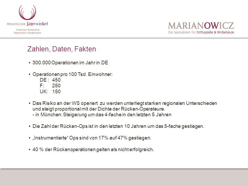 Zahlen, Daten, Fakten •. 300. 000 Operationen im Jahr in DE •