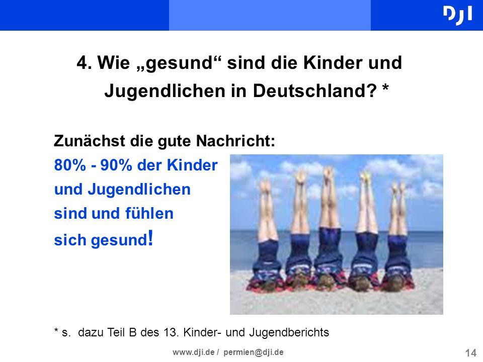 """4. Wie """"gesund sind die Kinder und Jugendlichen in Deutschland *"""
