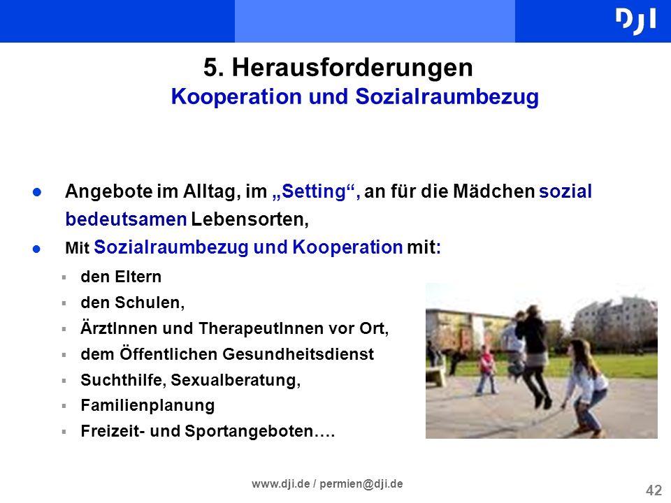 5. Herausforderungen Kooperation und Sozialraumbezug