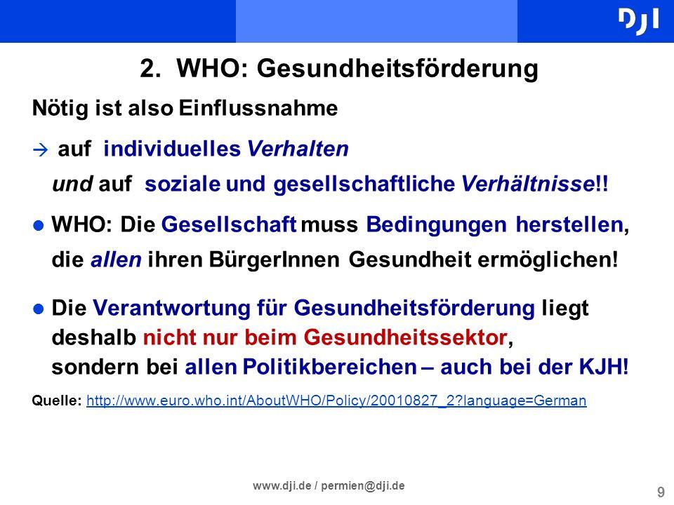 2. WHO: Gesundheitsförderung
