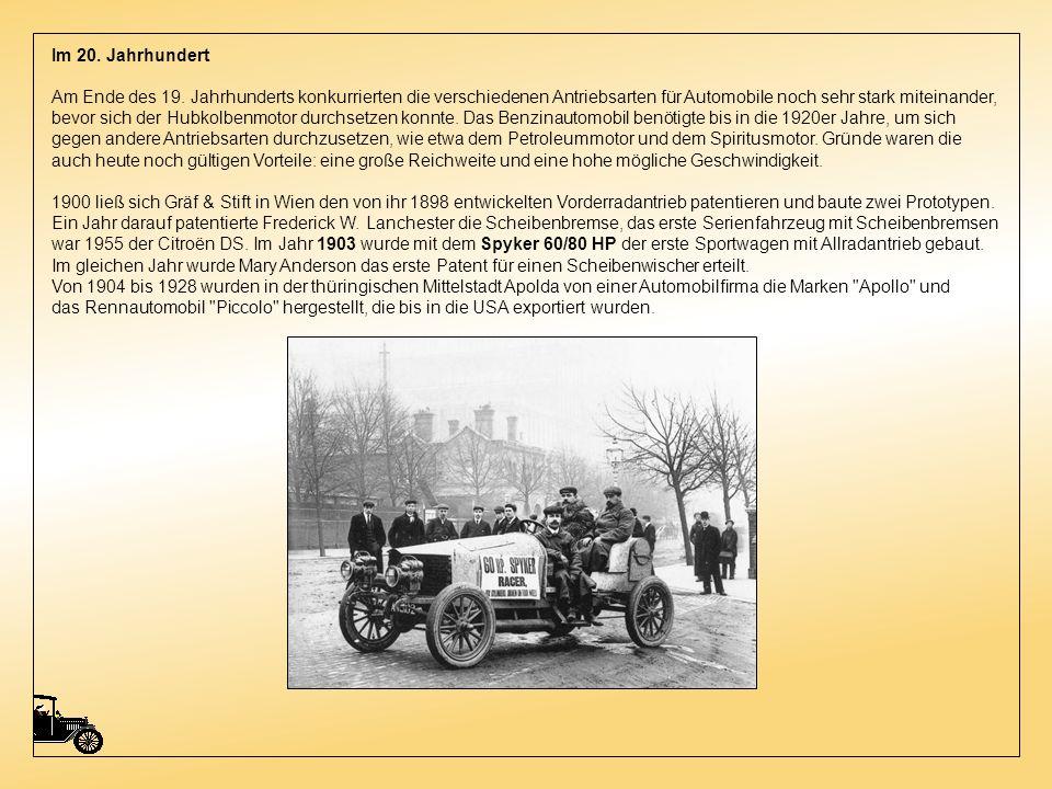 Im 20. Jahrhundert