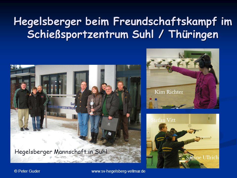 Hegelsberger beim Freundschaftskampf im Schießsportzentrum Suhl / Thüringen