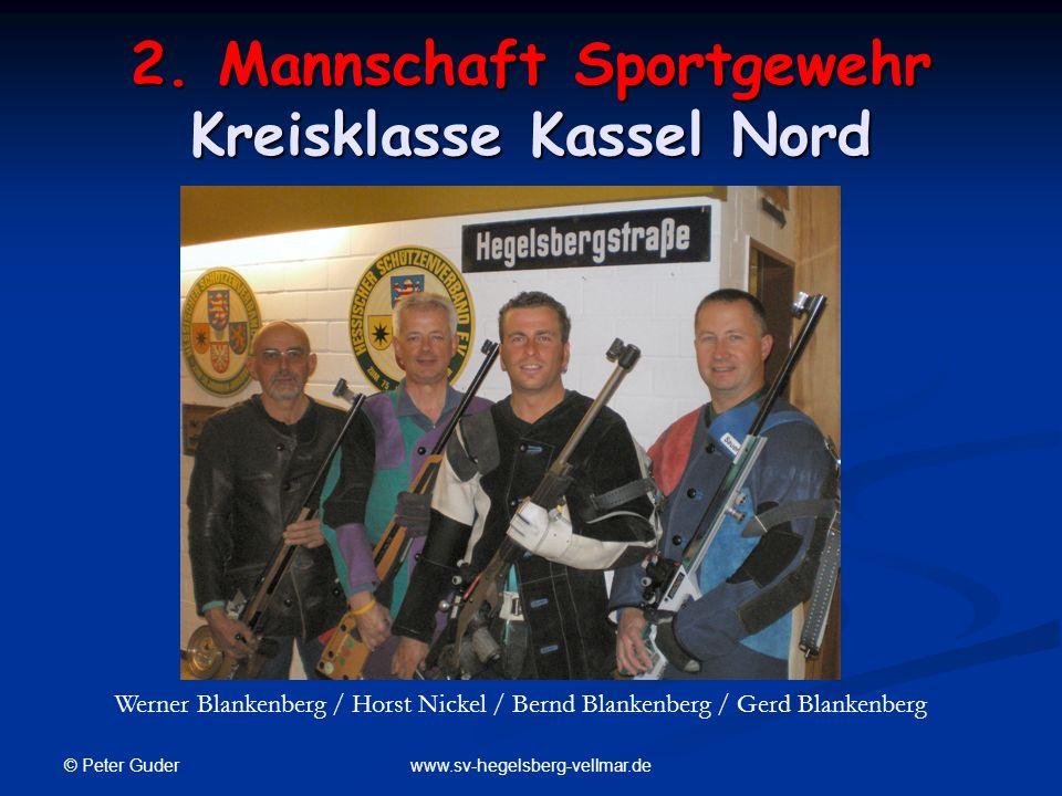 2. Mannschaft Sportgewehr Kreisklasse Kassel Nord