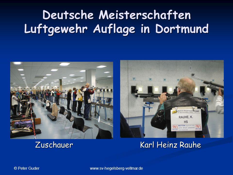 Deutsche Meisterschaften Luftgewehr Auflage in Dortmund