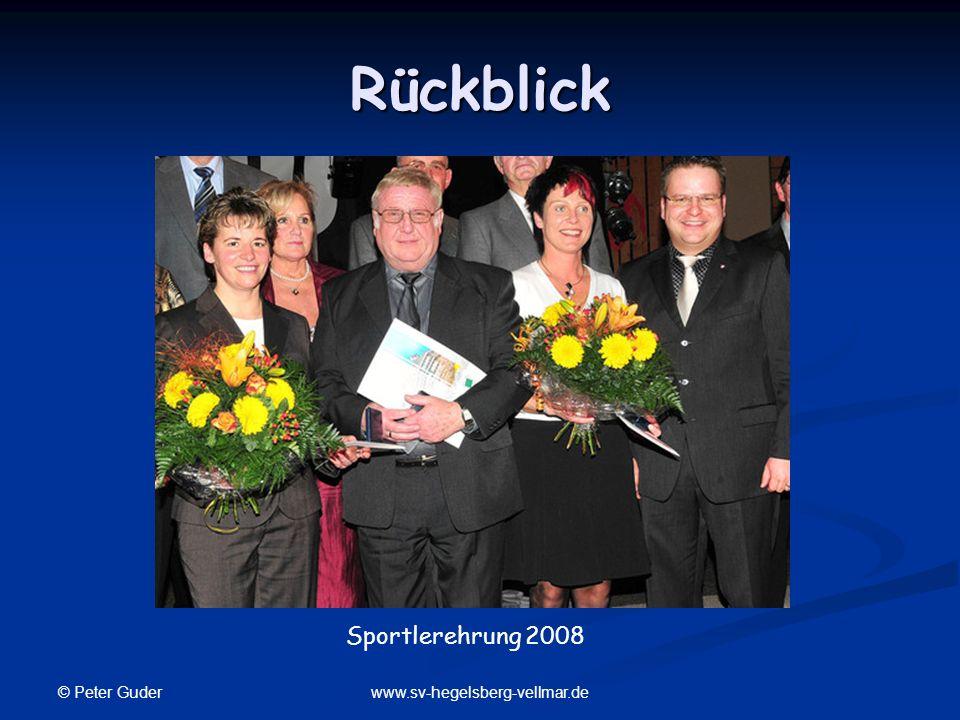 Rückblick Sportlerehrung 2008 © Peter Guder