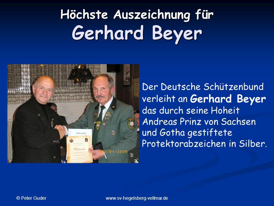 Höchste Auszeichnung für Gerhard Beyer