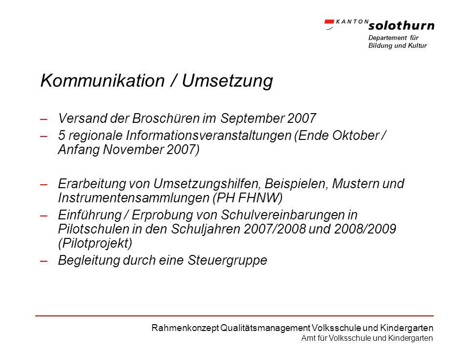 Kommunikation / Umsetzung