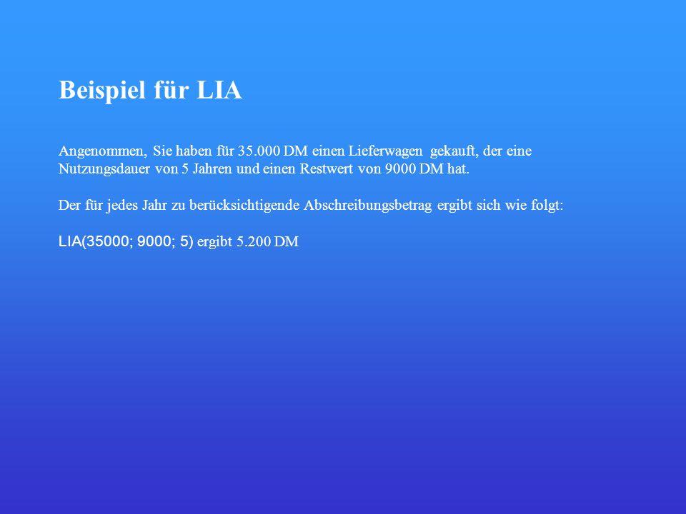 Beispiel für LIA