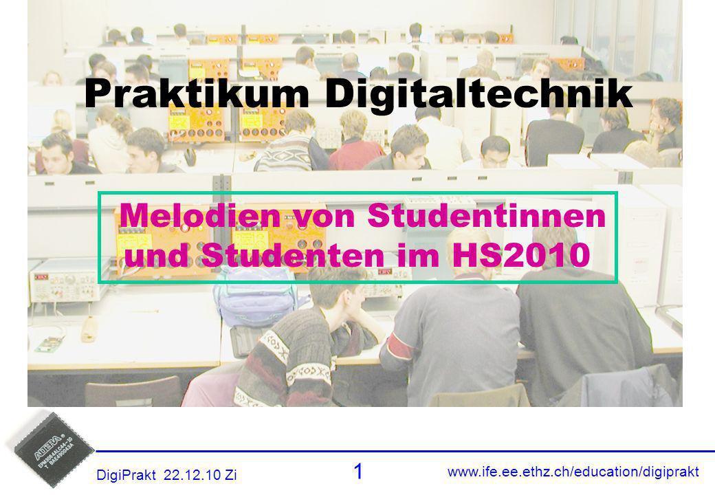 Praktikum Digitaltechnik Melodien von Studentinnen