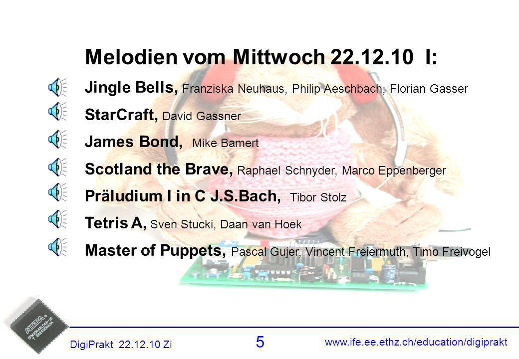 Melodien 4 Melodien vom Mittwoch 22.12.10 I:
