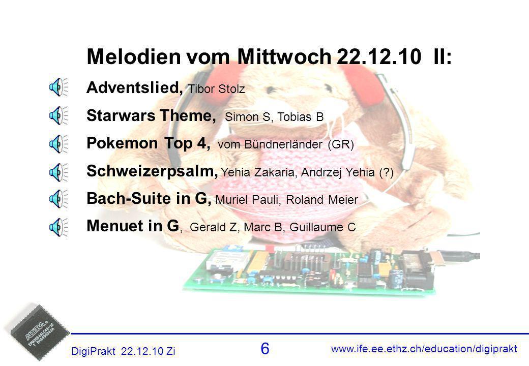 Melodien 5 Melodien vom Mittwoch 22.12.10 II: Adventslied, Tibor Stolz