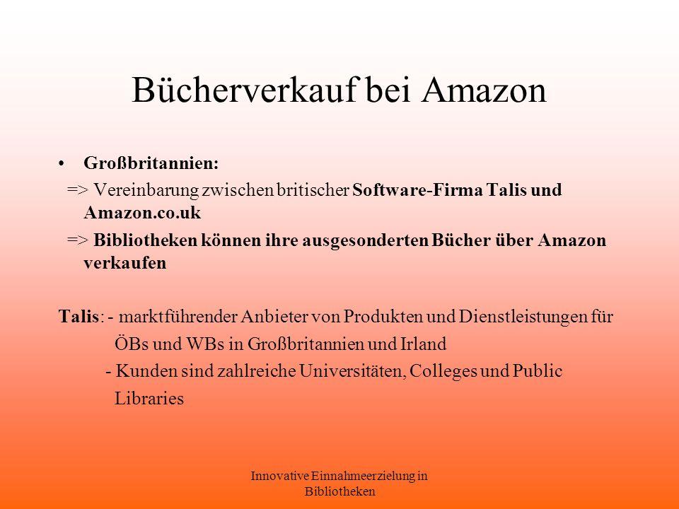 Bücherverkauf bei Amazon