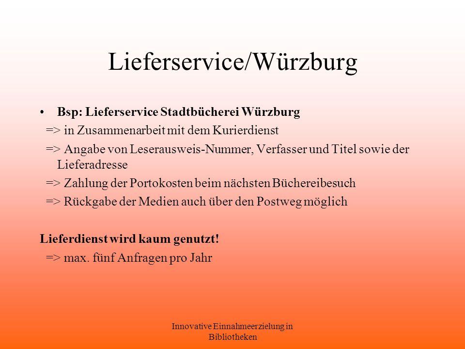 Lieferservice/Würzburg