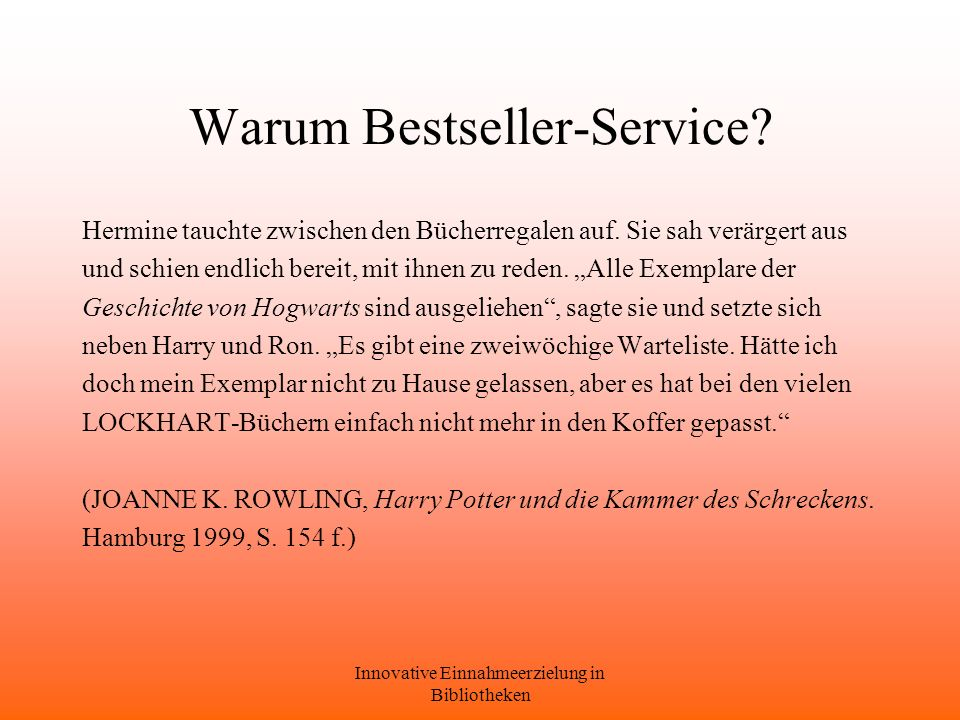 Warum Bestseller-Service