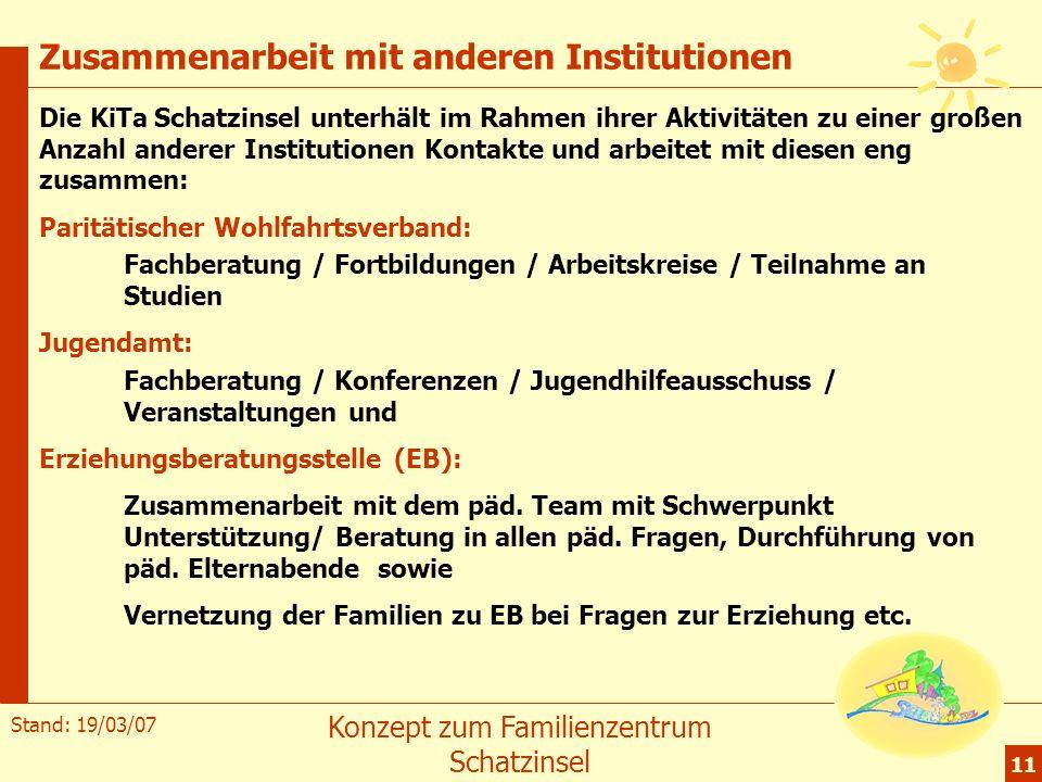 Zusammenarbeit mit anderen Institutionen