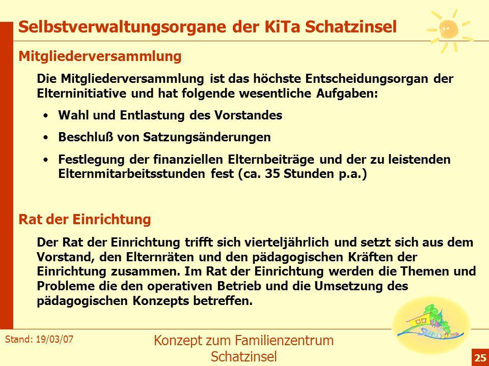 Selbstverwaltungsorgane der KiTa Schatzinsel