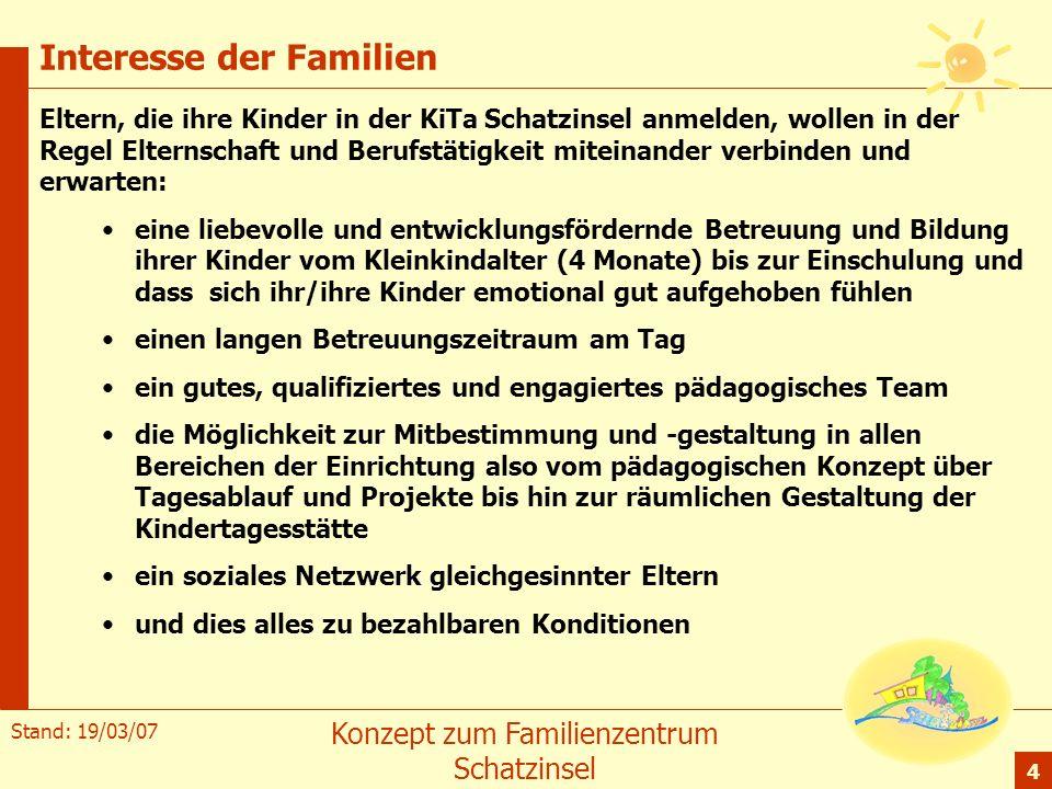 Interesse der Familien