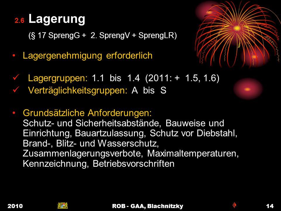 2.6 Lagerung (§ 17 SprengG + 2. SprengV + SprengLR)