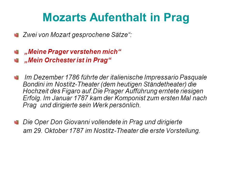 Mozarts Aufenthalt in Prag