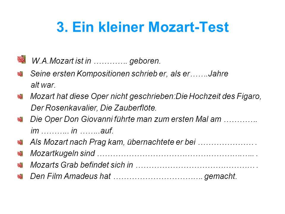 3. Ein kleiner Mozart-Test