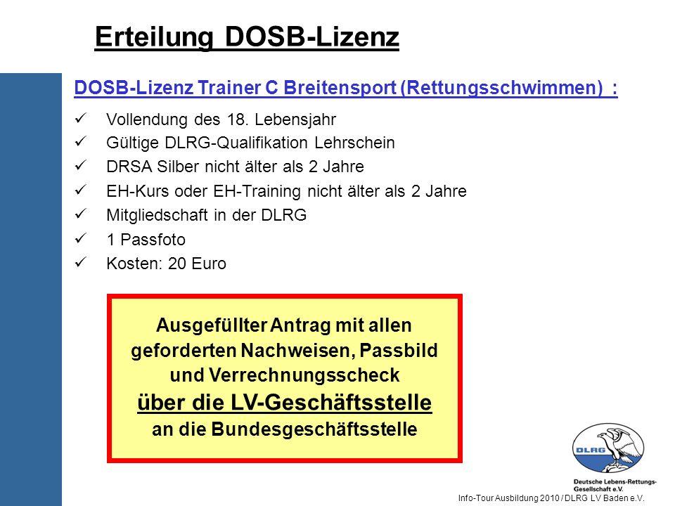 Erteilung DOSB-Lizenz